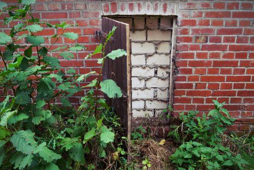 door wall bricked up