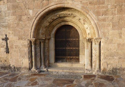 door romanesque chapel church