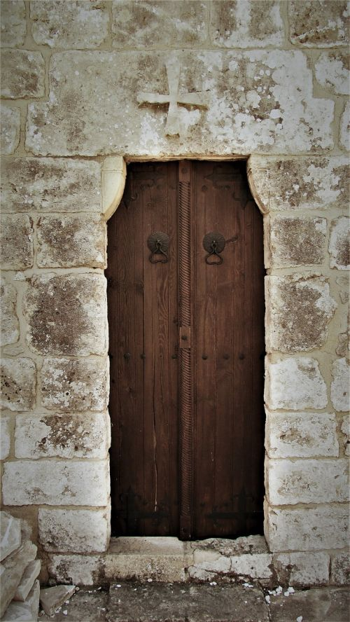 door wooden entrance