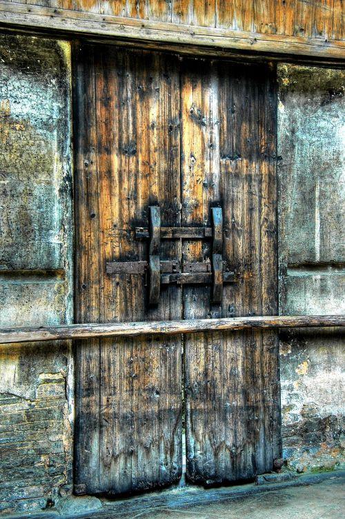door wood entry