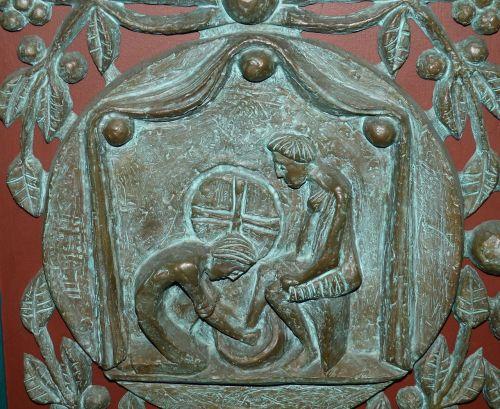 door portal bronze