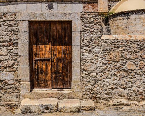 door wooden wall
