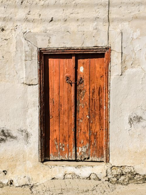 door wooden brown