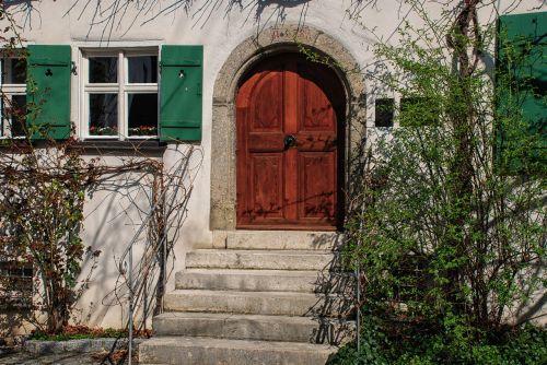 door wood window