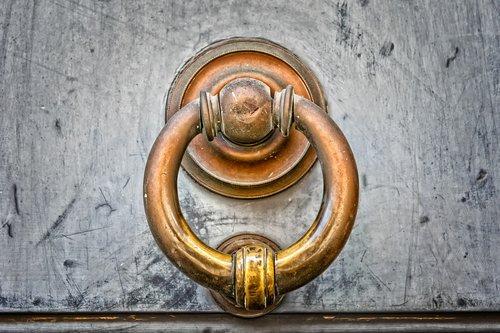 door  thumper  copper