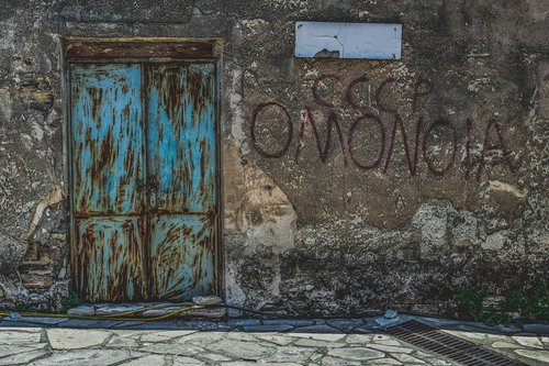 door  rusty  wall