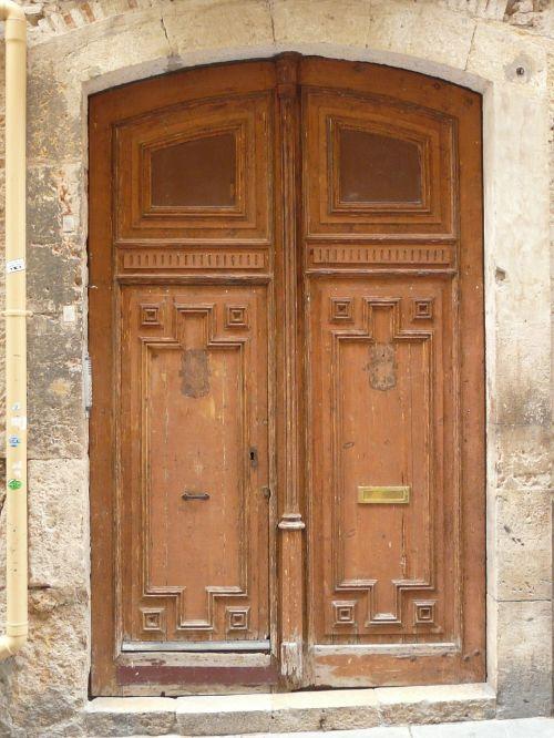 door wood entrance