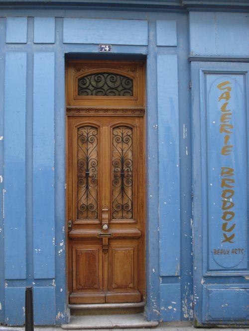 door wood blue