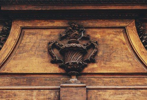 door  mantle  relief