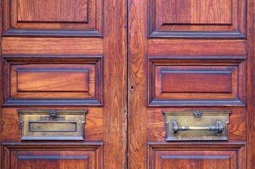 door  mailbox  wood