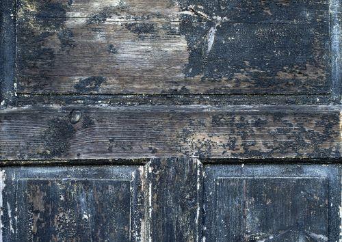 door wood damaged