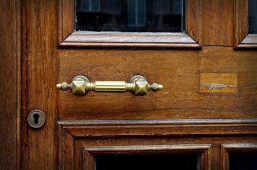 door handle brass metal