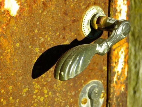 durų rankena,durų rankena,rankena,atviras,Domkratas,durys,įvestis,metalas,rusvas,spynos,Uždaryti,nerūdijantis