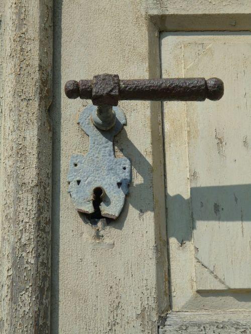 door handle input old door