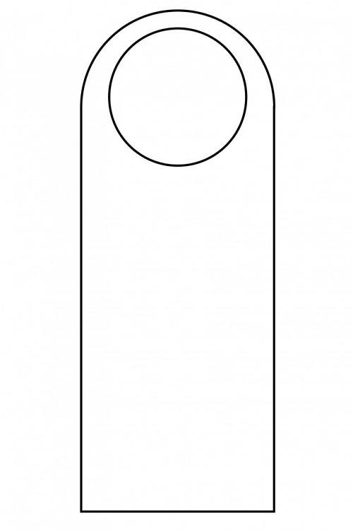 door hanger template door