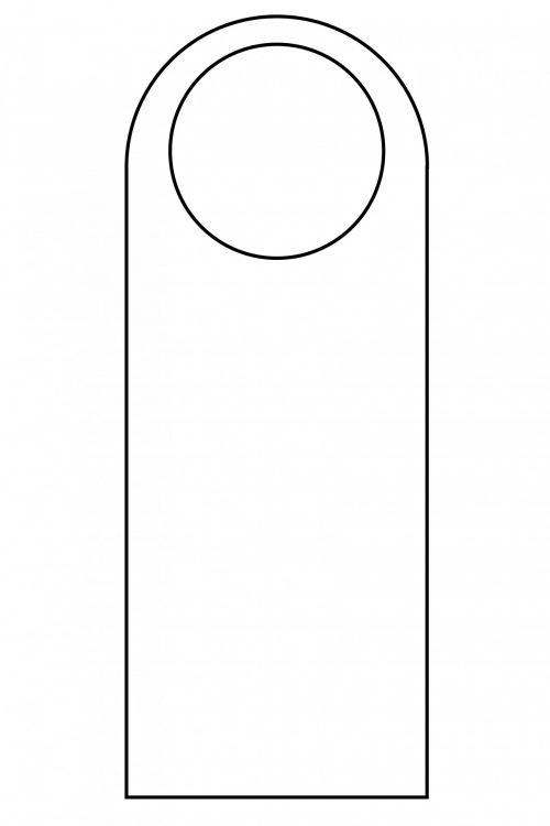 Door Hanger Template Outline