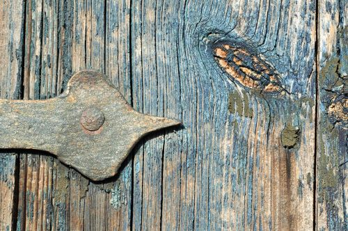 door hinge,wood,door,blue,metal,painting,open,old door,background,color