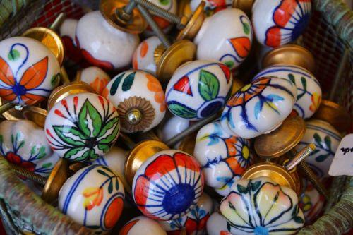 door knobs colored balls knob
