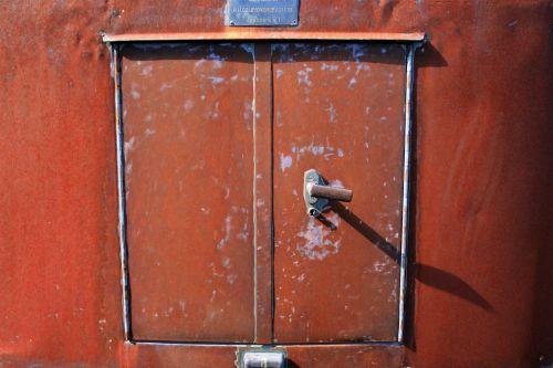 Door Of Old Trailer