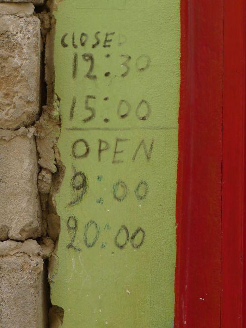 door plate open shop