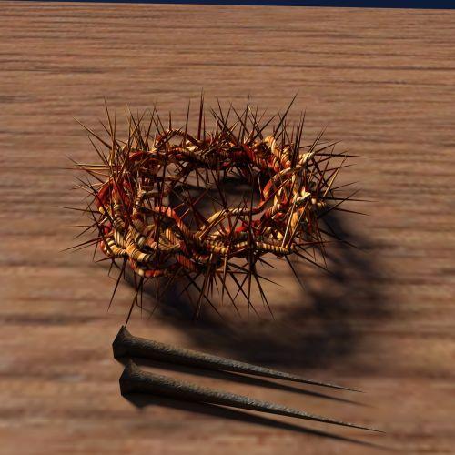vinis, karūna & nbsp, erškėčių, mediena, Jėzus, krikščionybė, nukryžiavimas, erškėčių, erškėčių vainikas su vinimis