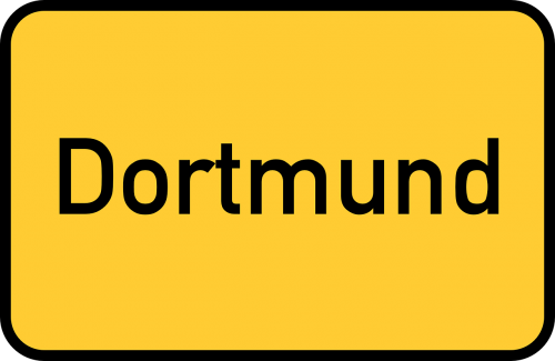 dortmund town sign city limits sign
