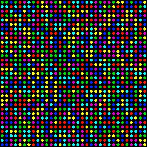 dots color rows