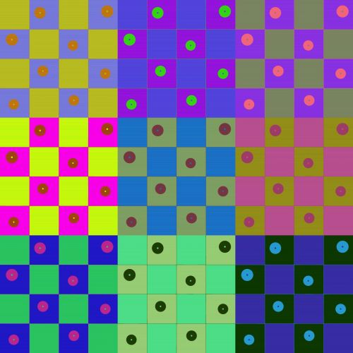 Dotted Checkerboard