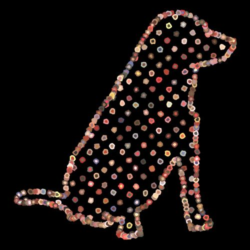 Dotted Dog Drawing