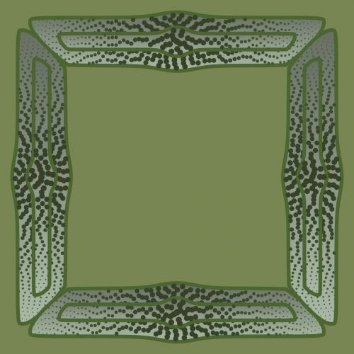 Dotted Green Frame 2