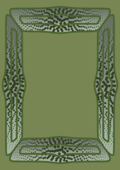 Dotted Green Frame