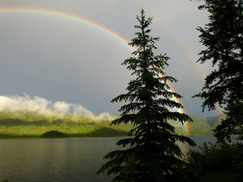 double rainbow canim lake