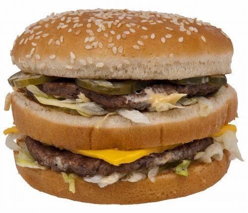 double cheeseburger hamburger big mac