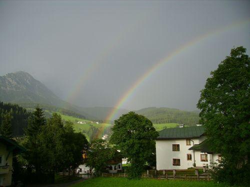 double rainbow sky natural wonders