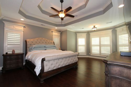 double tray ceiling master bedroom large master bedroom