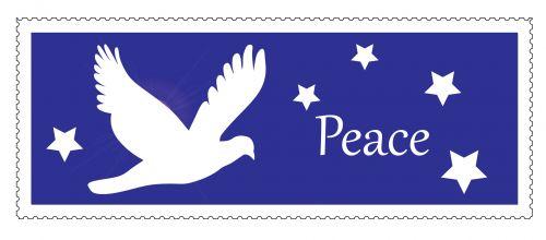 Dove Christmas Postage Stamp