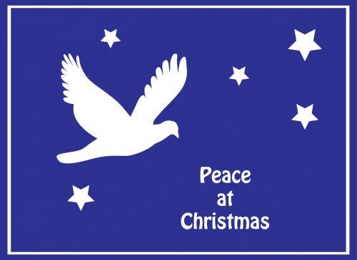 Dove Peace Christmas Card