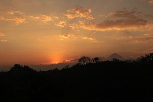 down  sunset  volcano