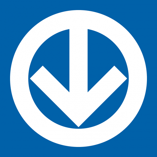 down arrow circle