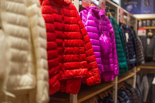 down jackets clothes shopping
