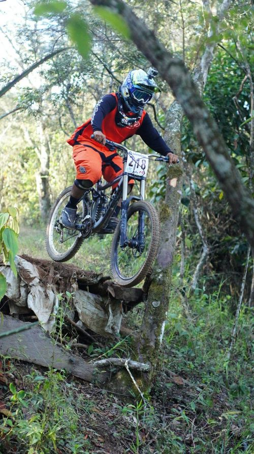 downhill jump bicycle