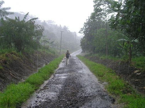 downpour rainy season samoa