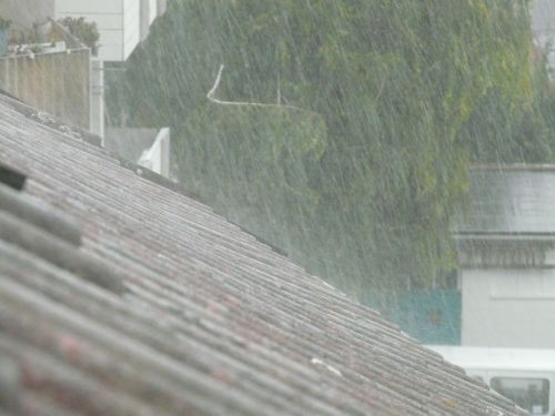 downpour roof shiver