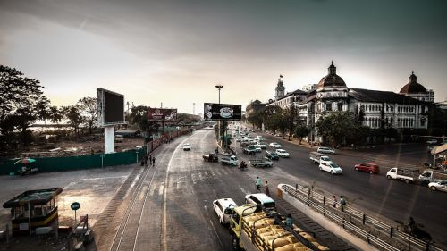 downtown yangon-myanmar myanmar burma