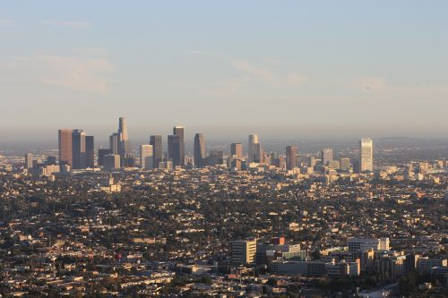 downtown los angeles pic from sky los angeles