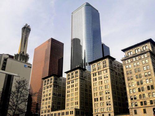 downtown los angeles buildings cityscape