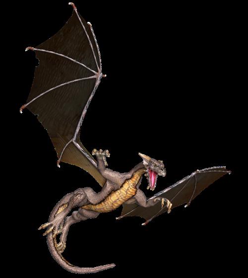 dragon wings flying