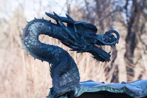 dragon sculpture metal