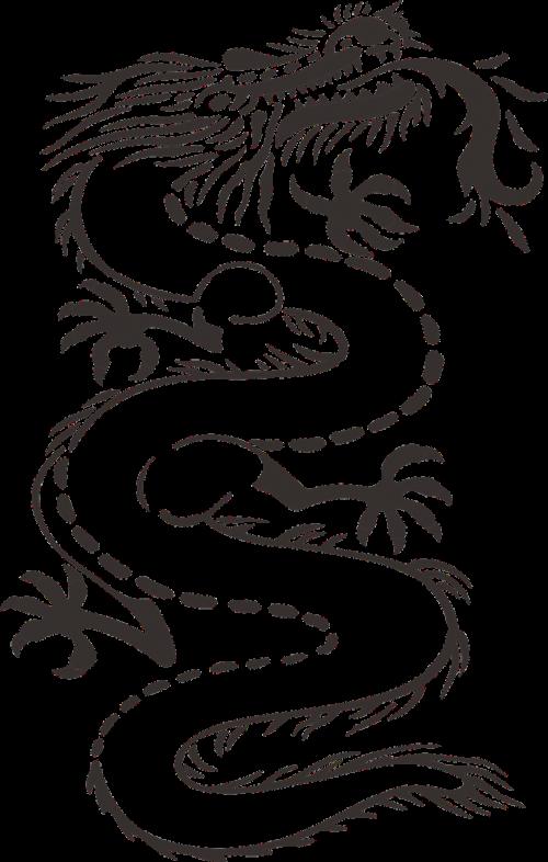 dragon monster black