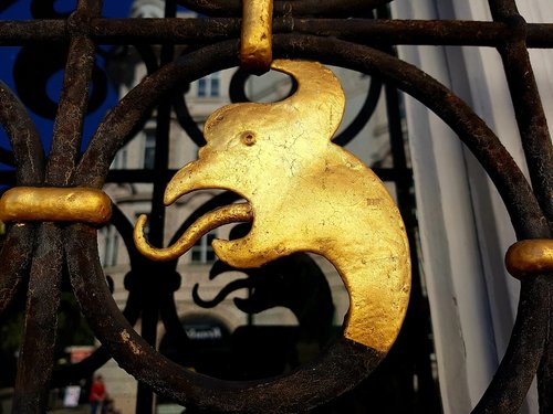 dragon  gilded  window grilles